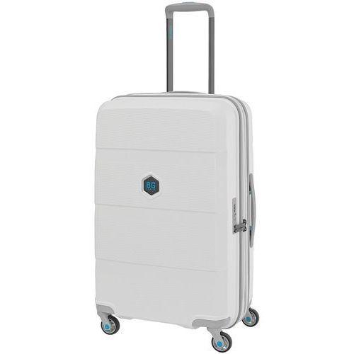 Bg berlin zip2 walizka średnia poszerzana antywłamaniowa 69,5 cm / biała - lounge white