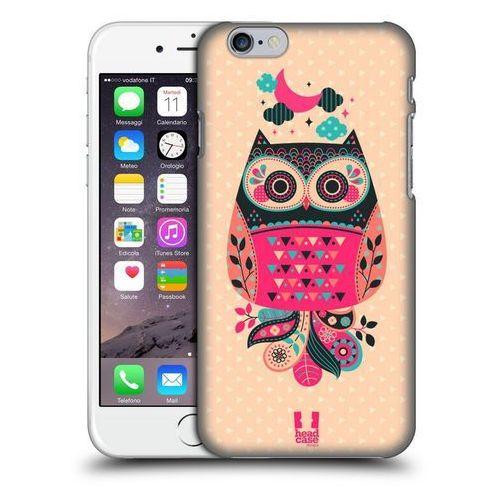Etui plastikowe na telefon - NIGHTFALL OWLS BLACK AND CORAL
