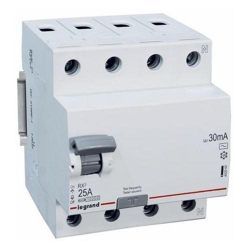 Legrand RX3 Wyłącznik różnicowoprądowy 4P 25A 30mA AC 402062 (3245064020626)