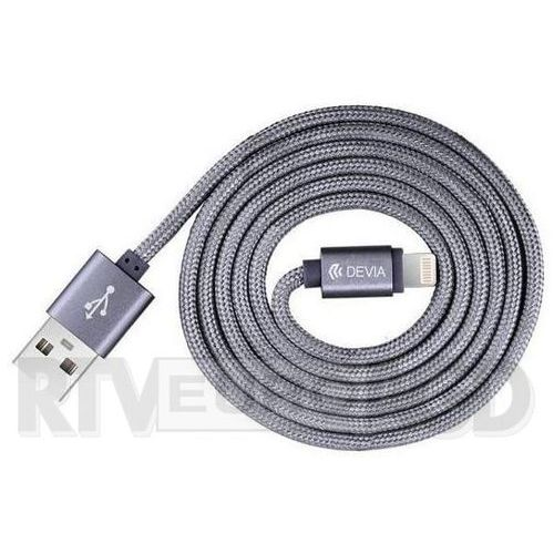 Kabel DEVIA certyfikowany MFI 2m do iPhone Lightning grey
