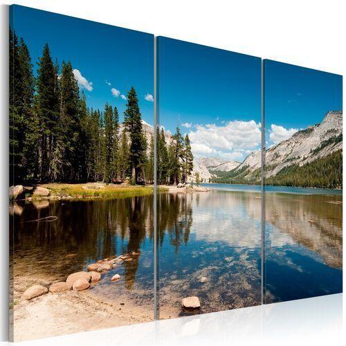 Artgeist Obraz - góry, drzewa i krystalicznie czyste jezioro