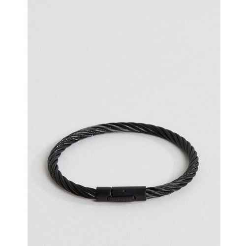 cable wire bracelet in black - black marki Tommy hilfiger