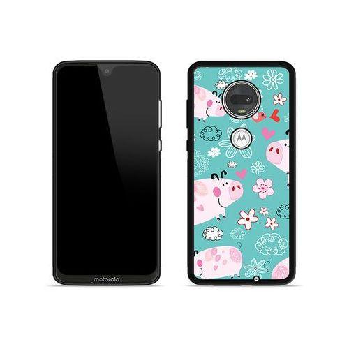Motorola Moto G7 - etui na telefon Aluminum Fantastic - różowe świnki