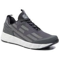 Sneakersy EA7 EMPORIO ARMANI - X8X033 XCC52 A775 Asphalt/Silver, kolor szary
