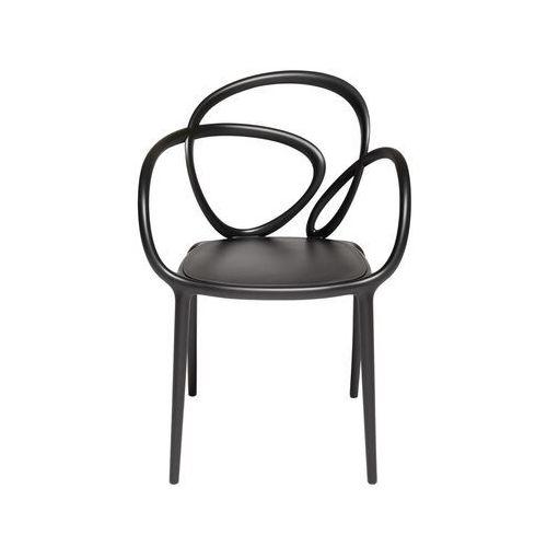 Qeeboo krzesło loop czarne - 2 szt. 30001bl