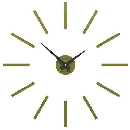 Zegar ścienny Pinturicchio mały CalleaDesign oliwkowy-zielony (10-301-54), kolor zielony