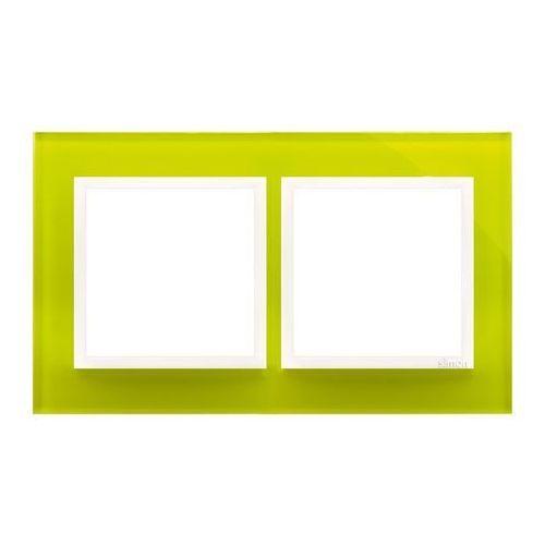 Ramka podwójna simon 54 drn2/90 szklana limonkowy sorbet kontakt-simon marki Kontakt - simon