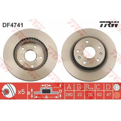 TARCZA HAM TRW DF4741 FIAT SEDICI 1.6 16V, 1.6 16V 4X4 06- (3322937570157)