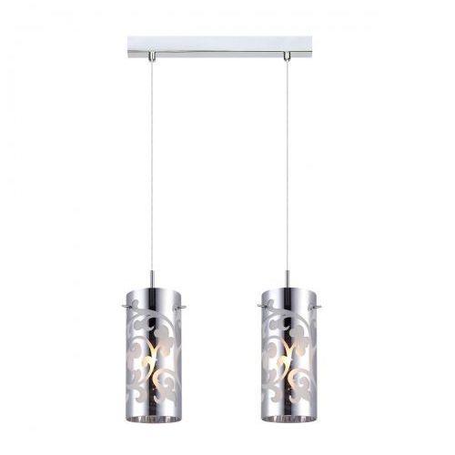 Italux Lampa wisząca laura mdm1579/2cr szklana listwa zwis tuby z wzorkami chrom (5900644349358)