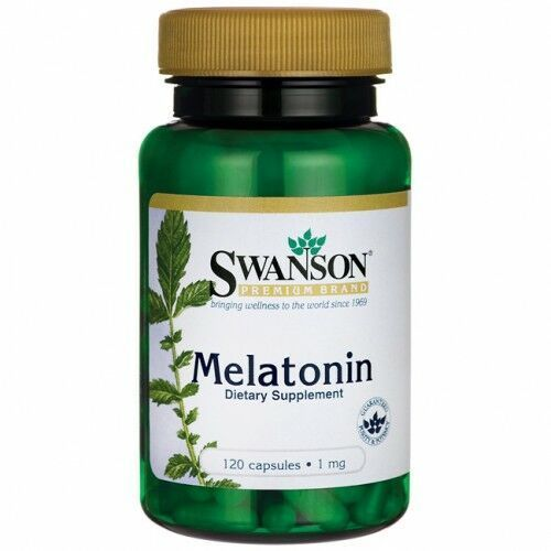 SWANSON Melatonina 1mg, 120kaps.