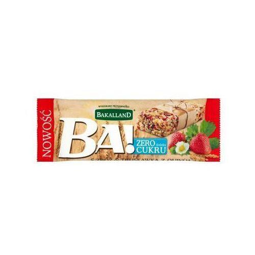 Bakalland  30g ba! baton zbożowy 5 zbóż truskawka i quinoa (5900749624848)
