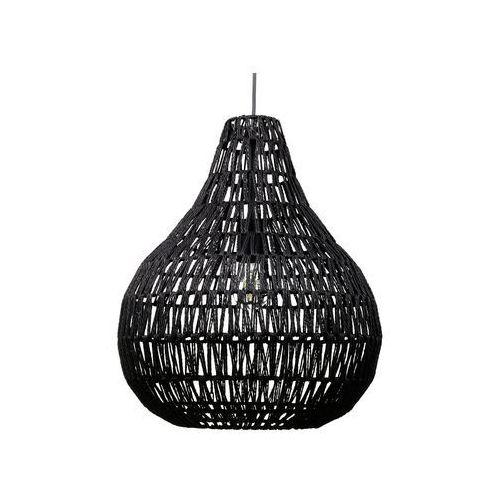 Lampa wisząca pleciona czarna molopo marki Beliani