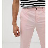tall slim chinos in pastel pink - pink marki Asos design