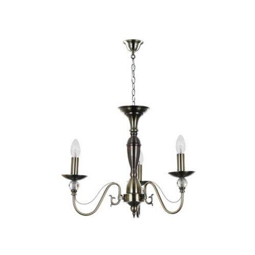 Lampa wisząca zwis garda 3x40w e14 mosiądz 5790311 marki Britop lighting