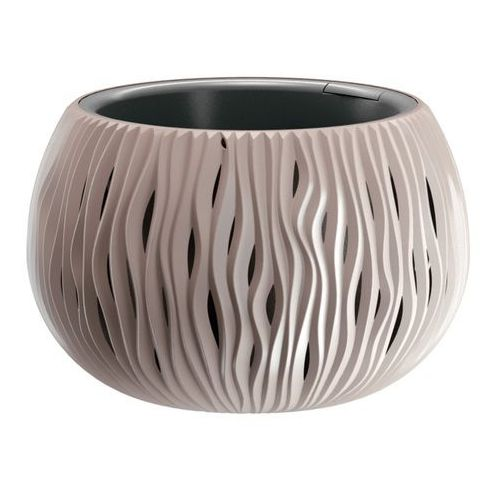 Prosperplast Doniczka sandy bowl z wkładem 29 cm mocca (5905197223490)