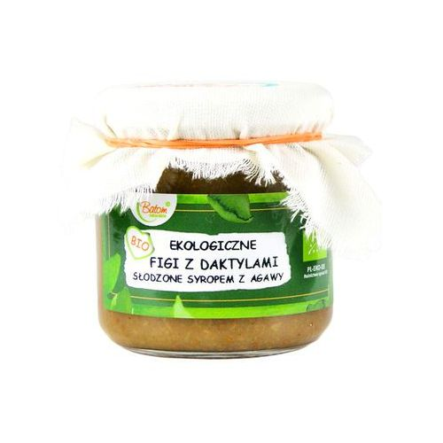 Batom (dżemy, soki, kompoty, czystek) Figi z daktylami słodzone syropem z agawy bio 200 g - batom