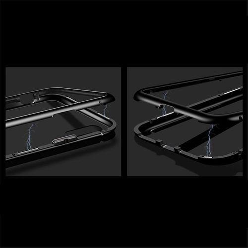Wozinsky Magnetic Case magnetyczne etui 360 pokrowiec na całą obudowę przód + tył Xiaomi Redmi Note 7 czarno-przezroczysty, kolor wielokolorowy