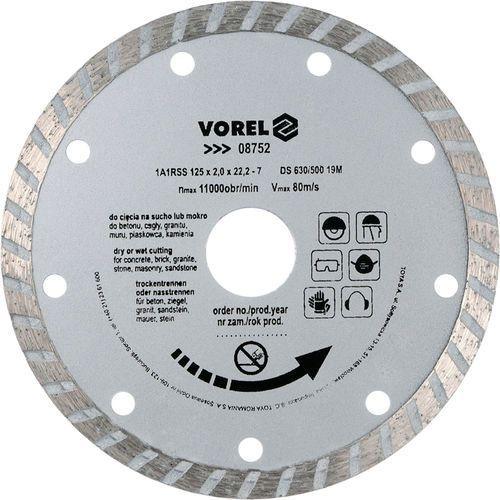 Tarcza diamentowa 125 mm, segment turbo Vorel 08752 - ZYSKAJ RABAT 30 ZŁ