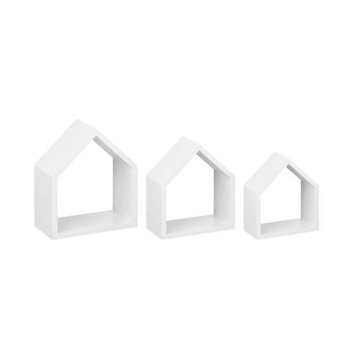 Zestaw 3 półek ściennych lodge-set biały 25 x 29 cm marki Dolle