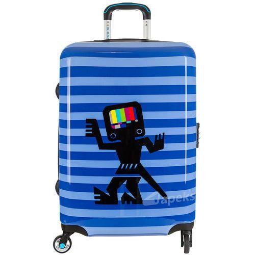 Bg berlin urbe duża walizka na 4 kółkach / 78 cm / caveman 2 - niebieski (6906053042988)