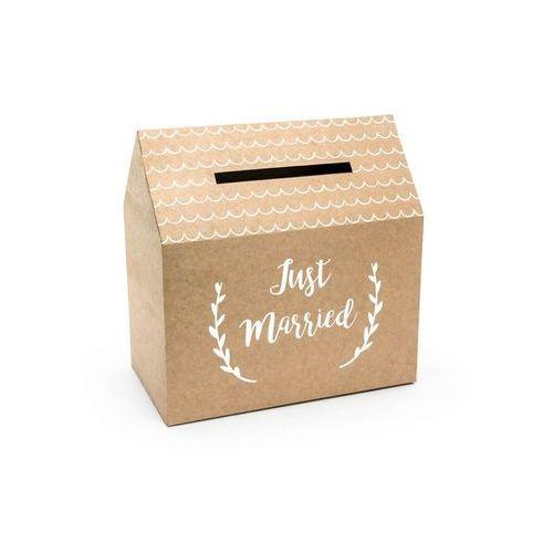 Pudełko na koperty z życzeniami, prezentami Just Married - 1 szt.