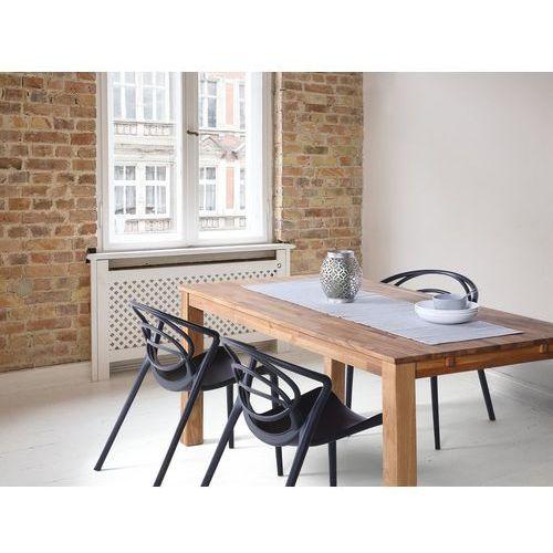 Beliani Stół do jadalni drewno jasnobrązowy 85 x 150 cm 2 przedłużki maxima (7105271314863)