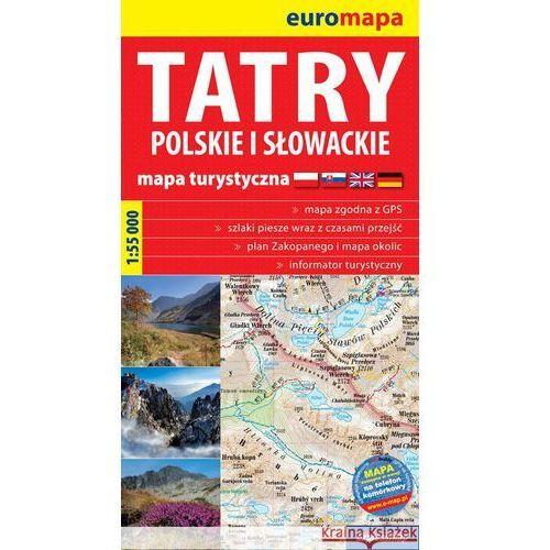 Tatry Polskie I Słowackie 1:55 000 Papierowa Mapa Turystyczna, oprawa miękka