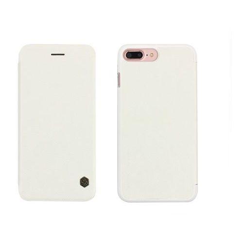 Apple iPhone 7 Plus - etui na telefon Nillkin Qin - białe, kolor biały