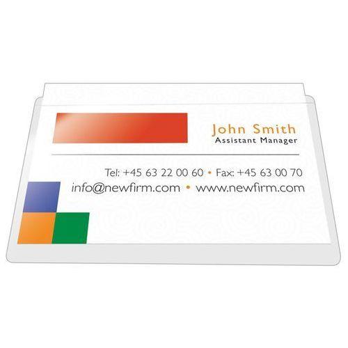 Kieszeń samoprzylepna Q-CONNECT, na wizytówki, rozc. na dł. boku, 56x93mm, 10szt.