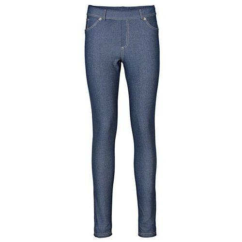 """Legginsy o wyglądzie dżinsów niebieski """"stone"""" marki Bonprix"""