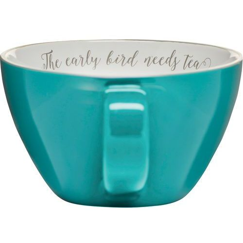 Duża filiżanka do herbaty The early bird needs tea - Sagaform 0,7 Litra (SF-5017492) (7394150174920)