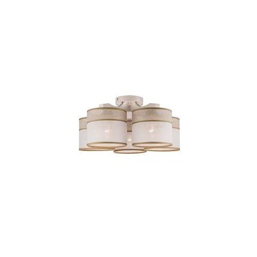 Żyrandol natynkowy ANDREA 5xE27/60W/230V biały
