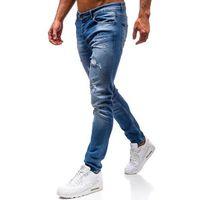 Spodnie jeansowe męskie niebieskie Denley 1008, kolor niebieski