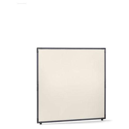Ścianka działowa, tworzywo sztuczne, rama w kolorze szarym łupkowym, perłowo-bia