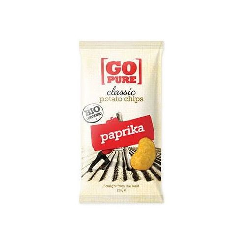 Chipsy o smaku paprykowym bezgl. bio 125 g - marki Go pure