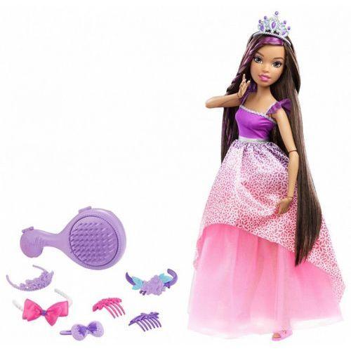 Barbie Lalka  długowłosa 43 cm (fioletowa)
