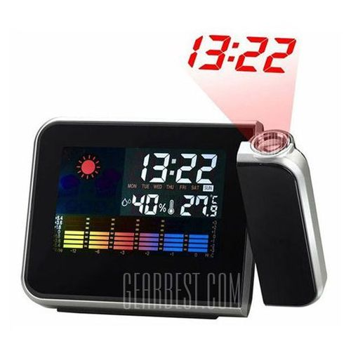8190 Multifunction Projection Alarm Snooze Clock Super Clear LCD Display with Detailed Weather Station - sprawdź w wybranym sklepie