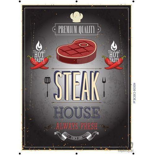 Obraz steak house szary ptd073t2 marki Consalnet