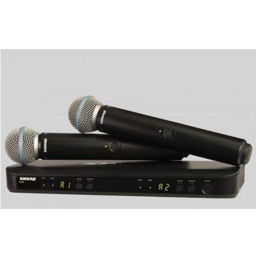 Shure BLX288/B58 BETA Wireless mikrofon bezprzewodowy podwójny Beta 58