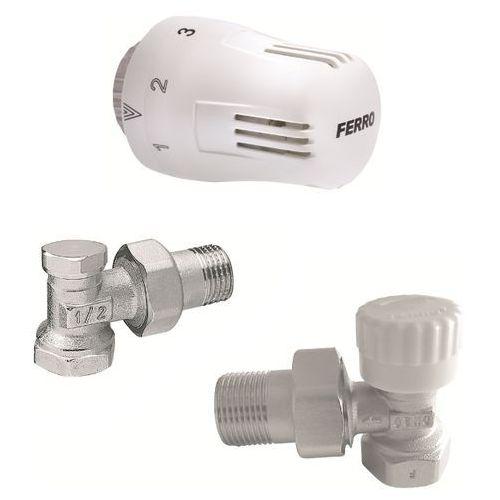 Zestaw termostatyczny kątowy Ferro Stop (5901095663130)