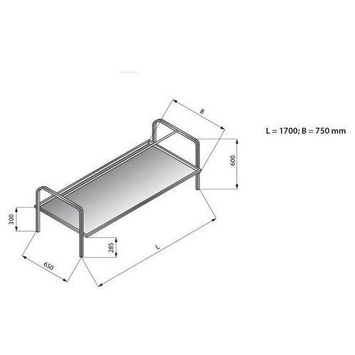 Nadstawka do koszy 1700x750 mm   LOZAMET, LO365/1775