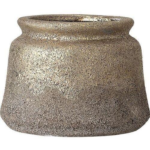 Bloomingville Osłonka na doniczkę 13,5 cm złota z terakoty