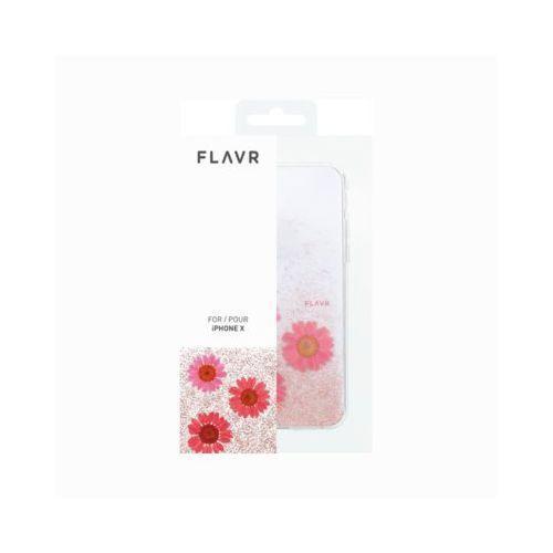 Etui iplate real flower gloria do apple iphone x różowy (31468) marki Flavr