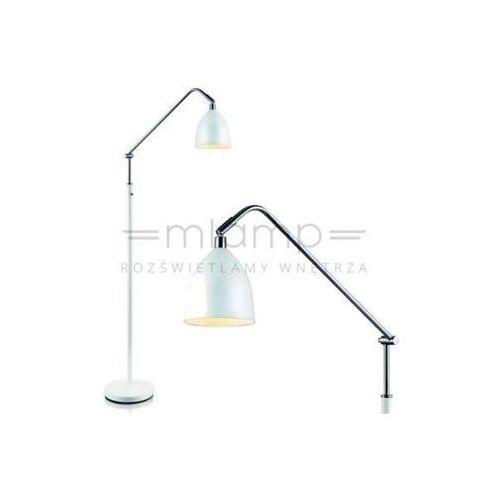 Markslojd Lampa podłogowa fredrikshamn 105022 metalowa oprawa stojąca biała