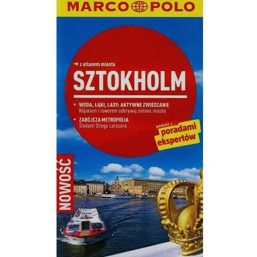 Sztokholm Przewodnik z atlasem miasta, oprawa miękka