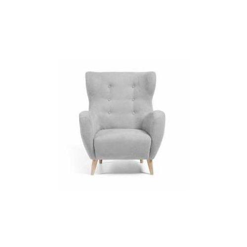 :: fotel passo szary - nogi z naturalnego drewna marki Laforma