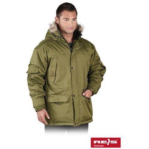 Oliwkowa kurtka robocza zimowa grohol marki R.e.i.s.