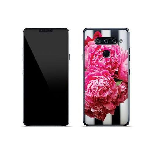 LG V40 ThinQ - etui na telefon Foto Case - różowe kwiaty, ETLG813FOTOFT042000