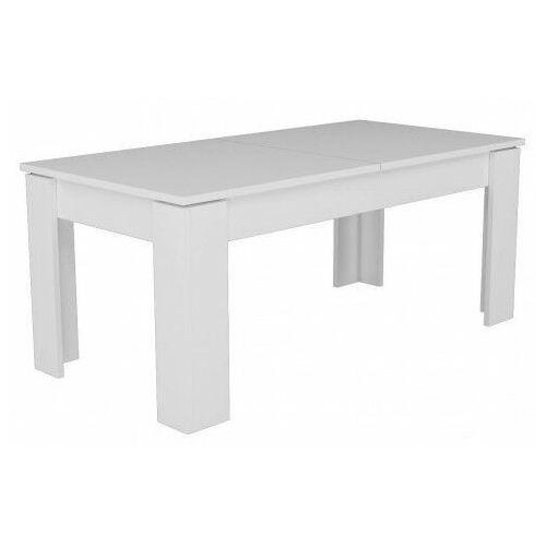 Biały minimalistyczny rozkładany stół - Akon, STÓŁ BELLA BIEL KPL