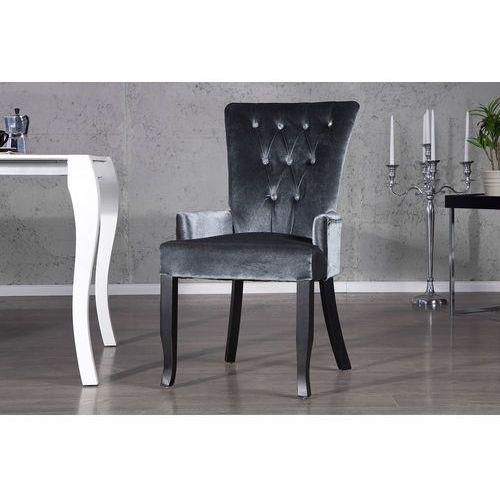 Interior Krzesło gloria z podłokietnikami - szare - szary (srebrzysty)